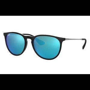 Ray Ban Erika Sunglasses Blue Mirrored